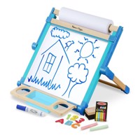Melissa  Doug  Wooden Double Sided Tabletop Easel 12790