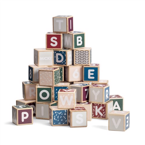 Micki Wooden Alphabet Blocks, Senses