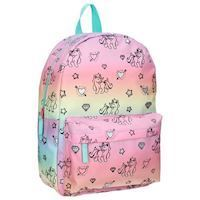 Milky Kiss Rainbow and Unicorns Backpack Large