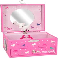 Miss Melody jewelry case w music pink