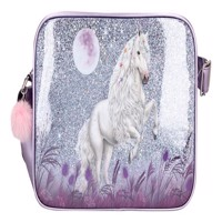 Miss Melody messenger bag w glitter purple