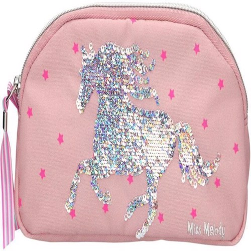 Miss Melody Pencil Case with Sequins Pink 0010285