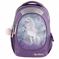 Miss Melody schoolbag w glitter purple