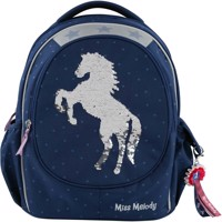 Miss Melody Schoolbag With Sequins Blue