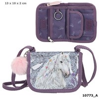 Miss Melody small bag wallet w glitter purple