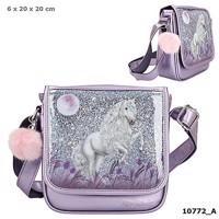 Miss Melody small messenger bag w glitter purple