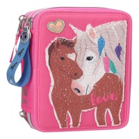 Miss Melody Trippel Pencilcase W Sequins Pink