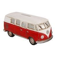 Money box Volkswagen Bus Red