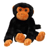Monkey with Velcro arms, 35cm  Black