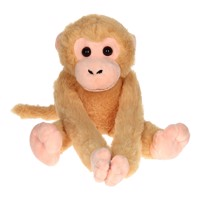 Monkey with Velcro arms, 35cm  Brown