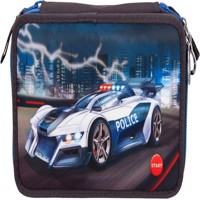 Monster Cars - Trippel Pencil Case w/LED - Police Car (0410840)