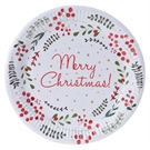 Paper plates 39Merry Christmas39, 10pcs