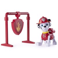 Paw Patrol - Pull Back Pup with Badge, Marshall