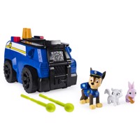 Paw patrol riden rescue vehicles chase