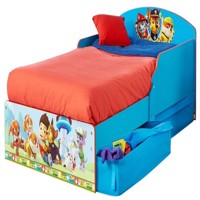 Paw patrol wooden car bed w storage 140Cm