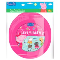 Peppa Pig Plates, 6 pieces.
