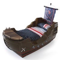 Pirates world pirateskib bed with sail