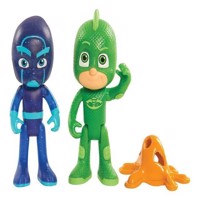 PJ Masks - 2pk Light Up Hero vs Villain - Gekko and Night Ninja