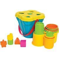 Playgro - Jerry's Class - Shape Sorting and Stacking Buckets