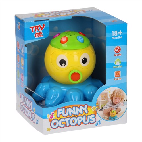 Playing Animals Light And Sound Octopus