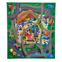 Playmat with auto a musement park