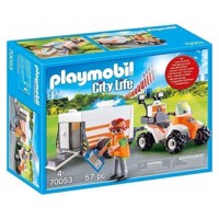 Playmobil 70053 First Aid Quad with Trailer