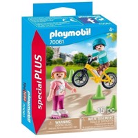 Playmobil 70061 Children with Bike and Skates