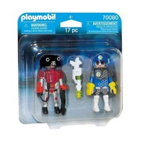 Playmobil 70080 Duopack Space Agent and Robot