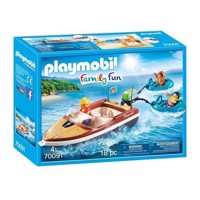 Playmobil 70091 Motorboat with Funtubes