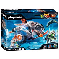 Playmobil 70231 spy team snow mobile