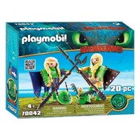 Playmobil Dragons 70042 Schorrie and Morrie in a flying suit