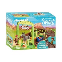 Playmobil Spirit 70120 Cut and Mr Carrots with horse stall