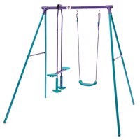 Plum helios II metal swing set