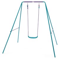 Plum single metal swing set