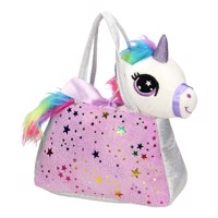 Plush Glitter Handbag with Unicorn