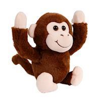 Plush Tumble Monkey with Sound  Brown