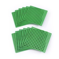 Plus Plus - 12 Green Basic Baseplates