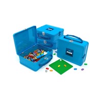 Plus Plus - Suitcase Metal blue, 600 pc