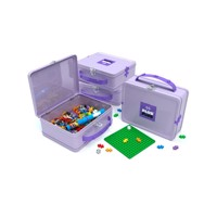 Plus Plus Suitcase Metal Purple 600Pc
