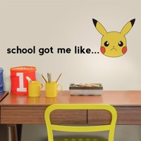 Pokemon PIKACHU Faces Wallstickers