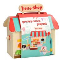Portable supermarket playset wood