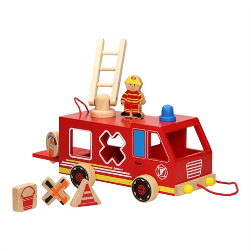Pull-out figure molding fire brigade