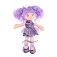 Rag doll Girl, 30 cm  Purple