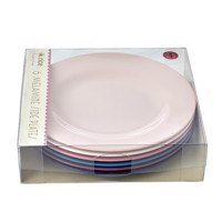 Rice Melamine Round Sideplates 6 Pcs Simply Yes