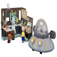 Rick Morty Large Contructionset Spaceship And Garage