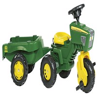 Rolly Toys  John Deere Trike with Sound Wheel and Trailer