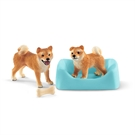 Schleich Shiba Inu Mother and Pup