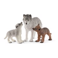 Schleich Wolvin with Wolf cubs
