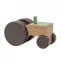 Sebra - Wooden Mobile Toy - Tractor - Green