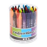 Set with 12 color crayons, 48 pcs